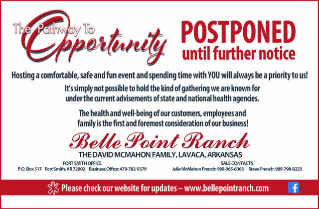 belle point ranch sale postponed